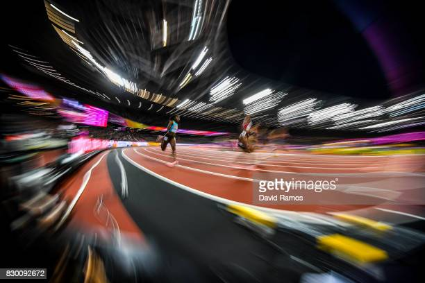 Anthonique Strachan of Bahamas competes in the Women's 200 metres semifinala during day seven of the 16th IAAF World Athletics Championships London...