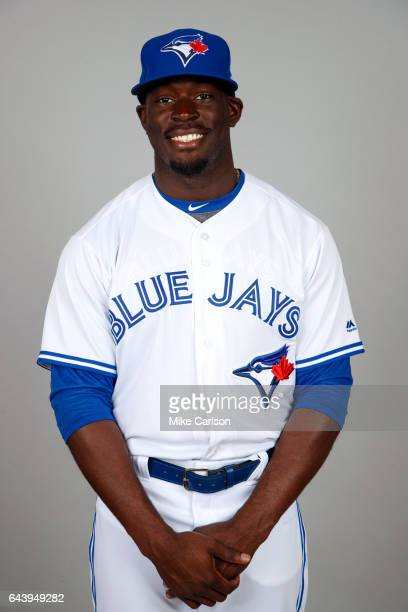 Anthony Alford of the Toronto Blue Jays poses during Photo Day on Tuesday February 21 2017 at Florida Auto Exchange Stadium in Dunedin Florida