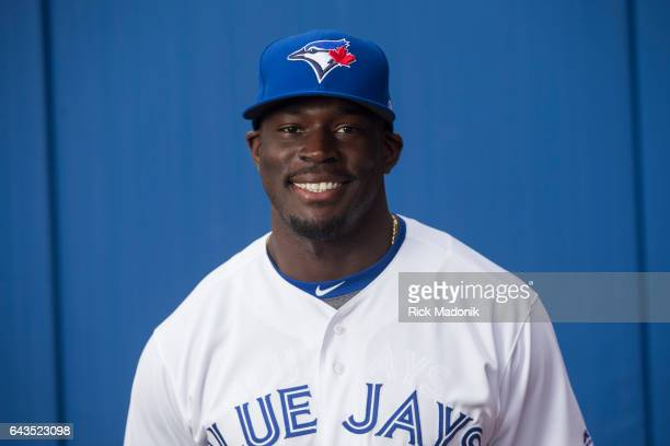 Anthony Alford Toronto Blue Jays start the day early with Photo Day at Florida Auto Exchange Stadium Toronto Star/Rick Madonik