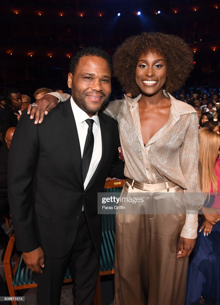 Anthony Anderson and Issa Rae attends Black Girls Rock! 2017 at NJPAC on August 5, 2017 in Newark, New Jersey.