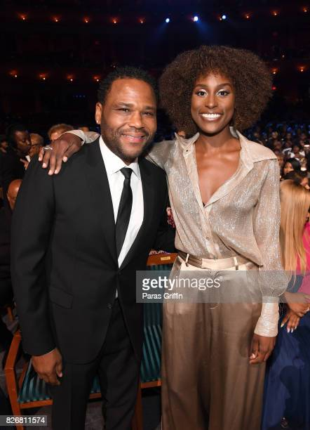 Anthony Anderson and Issa Rae attends Black Girls Rock 2017 at NJPAC on August 5 2017 in Newark New Jersey