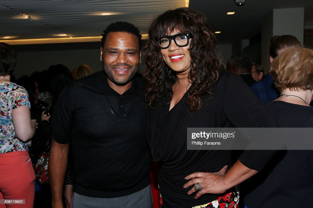 Anthony Anderson and Kym Whitley attend UTA celebrates Anthony Anderson on his Emmy nomination for his work on 'Black-ish' at UTA on August 23, 2017 in Beverly Hills, California.