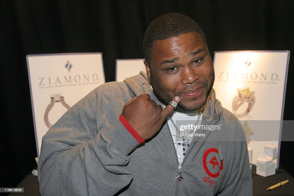 Anthony Anderson during Official Celebrity Gift Lounge Super Bowl XL Produced by On 3 Productions Day 2 at Renaissance Center in Detroit Michigan...