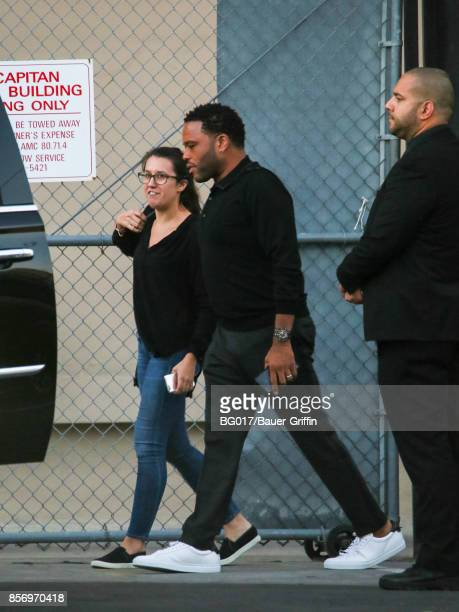 Anthony Anderson is seen at 'Jimmy Kimmel Live' on October 02 2017 in Los Angeles California