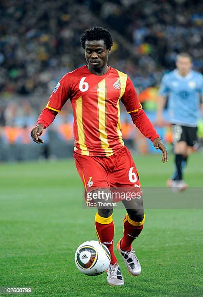 Anthony Annan of Ghana in action during the 2010 FIFA World Cup South Africa Quarter Final match between Uruguay and Ghana at the Soccer City stadium...