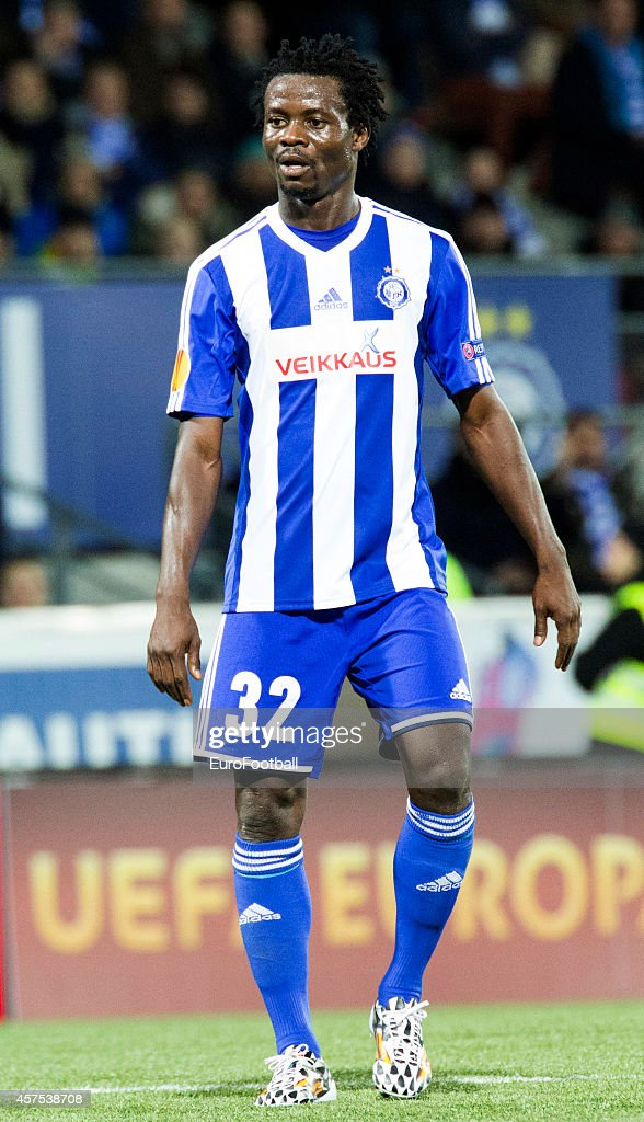 <a gi-track='captionPersonalityLinkClicked' href=/galleries/search?phrase=Anthony+Annan&family=editorial&specificpeople=646720 ng-click='$event.stopPropagation()'>Anthony Annan</a> of HJK Helsinki in action during UEFA Europa League group B match between HJK Helsinki and Club Brugge KV at the Sonera Stadium on October 2, 2014 in Helsinki, Finland .