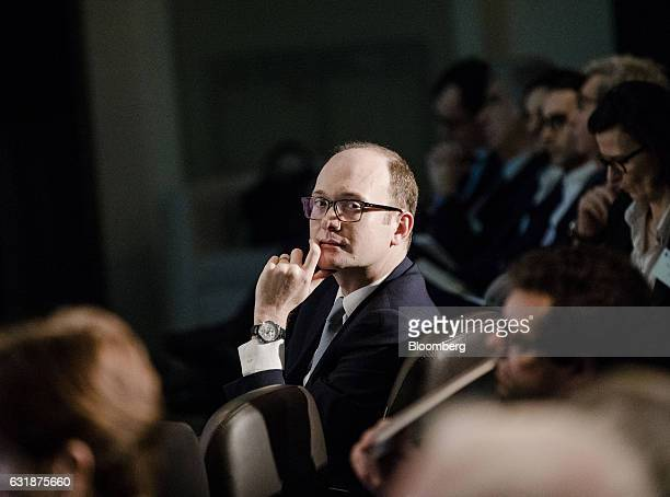 Anthony Attia chief executive officer of Euronext Paris looks on as he sits in the audience during the Euronext NV annual news conference in Paris...
