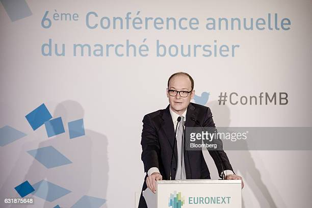 Anthony Attia chief executive officer of Euronext Paris speaks during the Euronext NV annual news conference in Paris France on Tuesday Jan 17 2017...