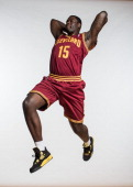 Anthony Bennett of the Cleveland Cavaliers poses for a portrait during the 2013 NBA rookie photo shoot at the MSG Training Center on August 6 2013 in...