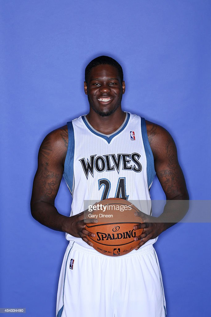 Anthony Bennett #24 of the Minnesota Timberwolves pose for portraits on August 26, 2014 at Target Center in Minneapolis, Minnesota.