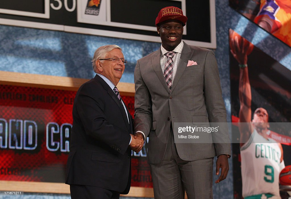 Anthony Bennett of UNLV poses for a photo with NBA Commissioner David Stern after Bennett was drafted #1 overall by the Cleveland Cavaliers during the 2013 NBA Draft at Barclays Center on June 27, 2013 in in the Brooklyn Bourough of New York City.