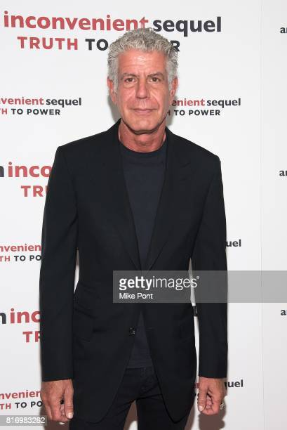 Anthony Bourdain attends 'An Inconvenient Sequel Truth to Power' New York Screening at the Whitby Hotel on July 17 2017 in New York City