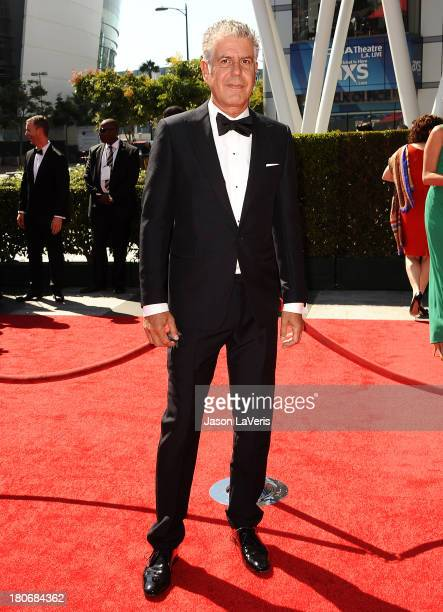 Anthony Bourdain attends the 2013 Creative Arts Emmy Awards at Nokia Theatre LA Live on September 15 2013 in Los Angeles California