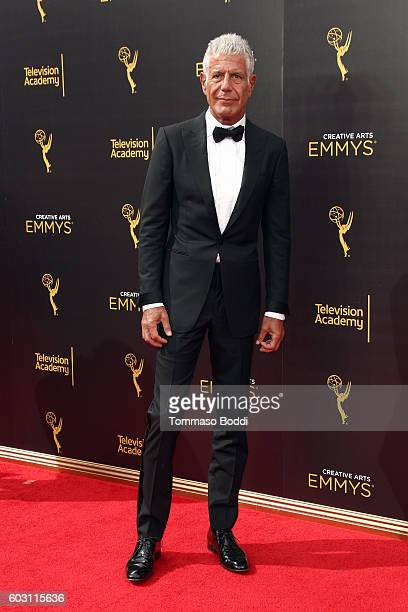 Anthony Bourdain attends the 2016 Creative Arts Emmy Awards held at Microsoft Theater on September 11 2016 in Los Angeles California
