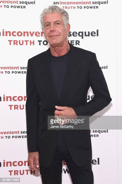 Anthony Bourdain attends the 'An Inconvenient Sequel Truth To Power' New York Screening' at the Whitby Hotel on July 17 2017 in New York City