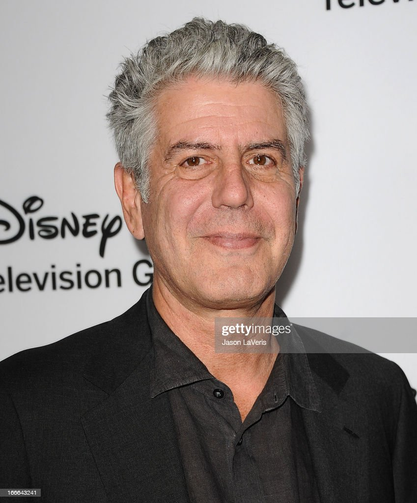 <a gi-track='captionPersonalityLinkClicked' href=/galleries/search?phrase=Anthony+Bourdain&family=editorial&specificpeople=2310617 ng-click='$event.stopPropagation()'>Anthony Bourdain</a> attends the Disney ABC Television Group 2013 TCA Winter Press Tour at The Langham Huntington Hotel and Spa on January 10, 2013 in Pasadena, California.