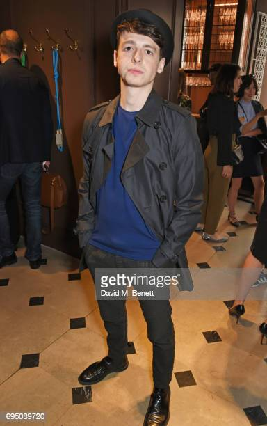 Anthony Boyle attends a breakfast hosted by Christopher Bailey Dame Natalie Massenet and Dylan Jones in celebration of London Fashion Week Men's at...