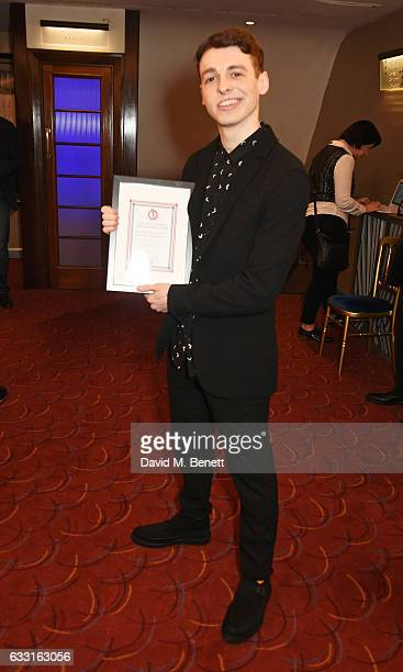 Anthony Boyle winner of the Jack Tinker Award for Most Promising Newcomer for 'Harry Potter And The Cursed Child' attends The Critics' Circle Theatre...