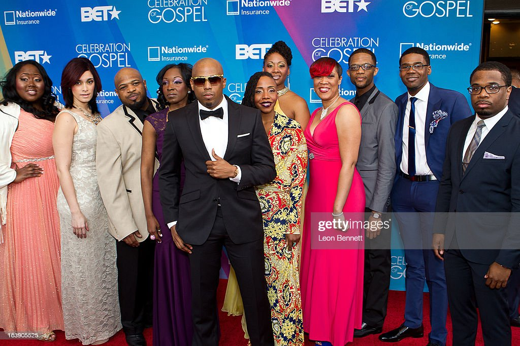 Anthony Brown and Group Therapy arrives at the BET Network's 13th Annual 'Celebration of Gospel' at Orpheum Theatre on March 16, 2013 in Los Angeles, California.
