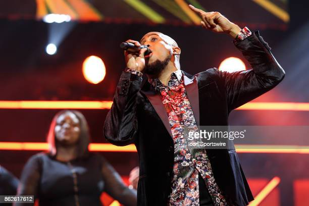 Anthony Brown performs during the 48th Annual GMA Dove Awards in Allen Arena on October 17 2017 in Nashville TN