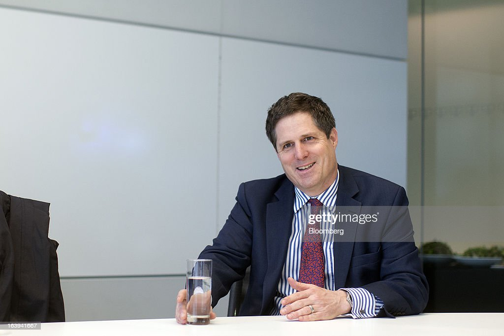 Anthony Browne, chief executive officer of the British Bankers' Association (BBA), reacts during an interview in London, U.K., on Monday, March 18, 2013. U.K. stocks retreated, sending the FTSE 100 Index lower for a second day, after the euro area forced Cyprus to adopt an unprecedented levy on bank deposits, threatening to reignite the region's debt crisis. Photographer: Simon Dawson/Bloomberg via Getty Images