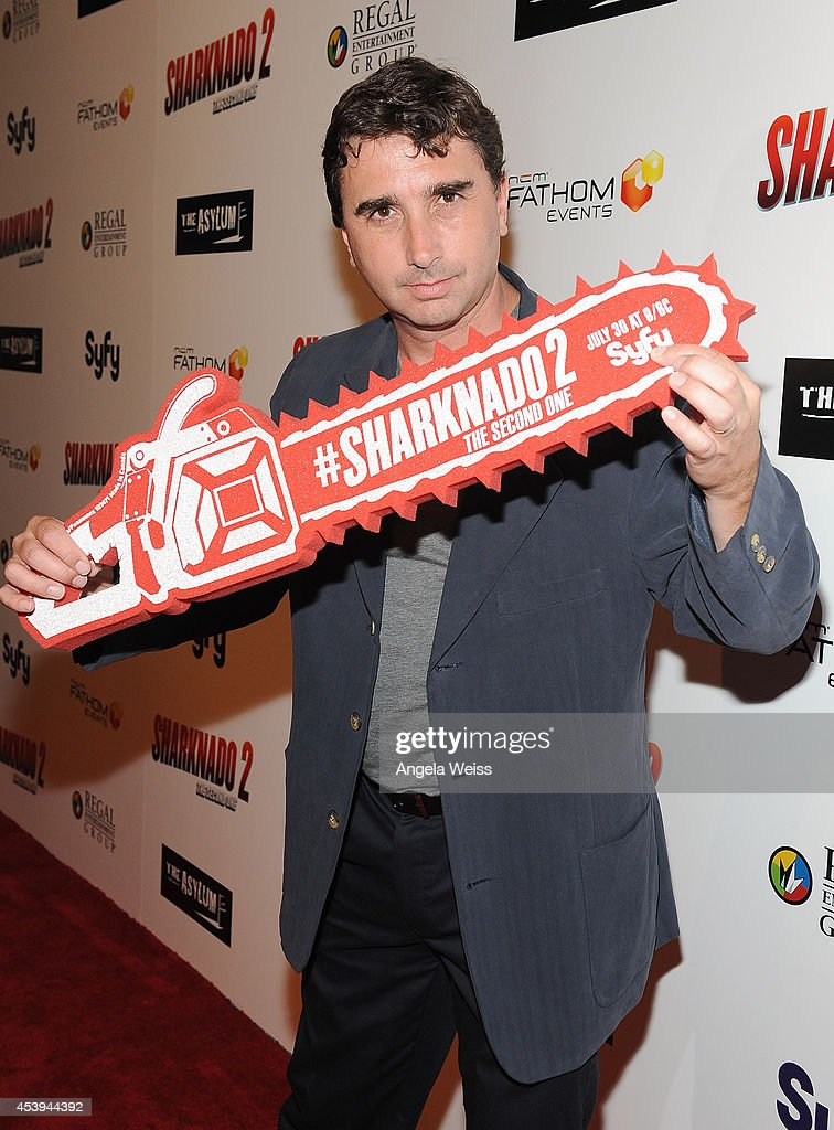 Anthony C. Ferrante attends the premiere of The Asylum & Fathom Events' 'Sharknado 2: The Second One' at Regal Cinemas L.A. Live on August 21, 2014 in Los Angeles, California.
