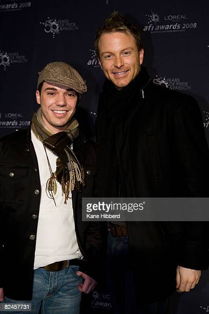 Anthony Callea and Tim Campbell arrive for the opening night for the L'Oreal Paris 2008 AFI Awards at the Rivoli Cinema on August 19 2008 in...