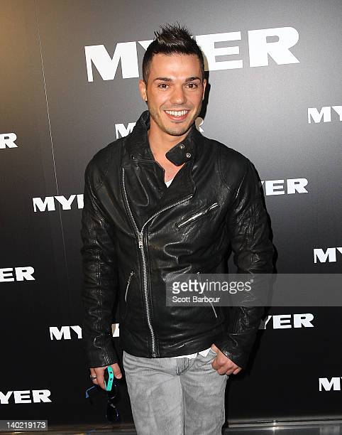 Anthony Callea arrives at the Myer A/W 2012 Collection Launch on March 1 2012 in Melbourne Australia