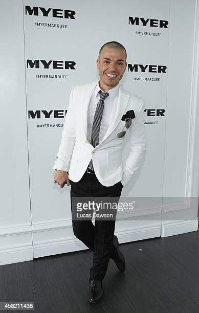Anthony Callea at the Myer Marquee on Derby Day at Flemington Racecourse on November 1 2014 in Melbourne Australia