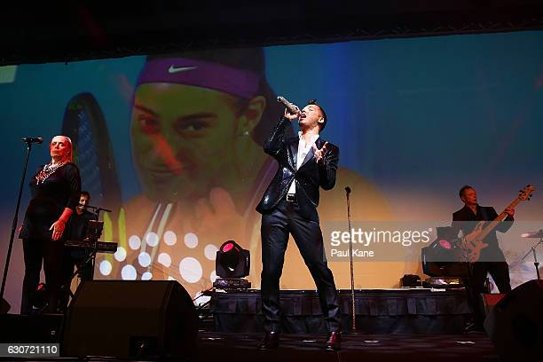 Anthony Callea performs during the Hopman Cup New Year's Eve Gala at the Crown Perth on December 31 2016 in Perth Australia