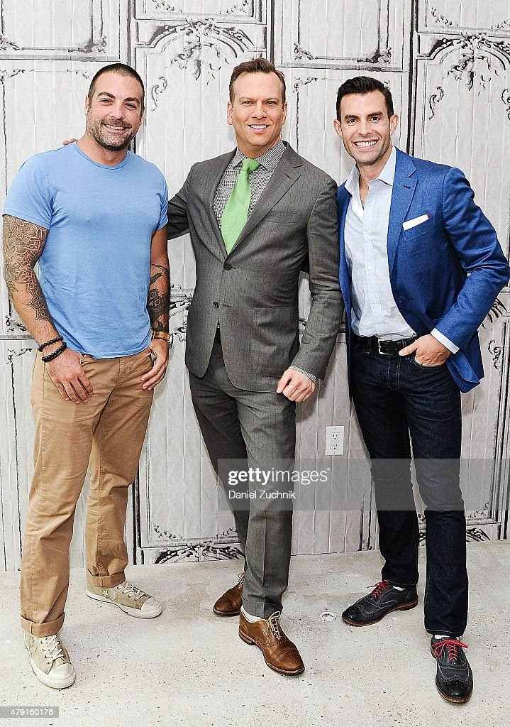 Anthony carrino brian balthazar and john colaneri attend the aol