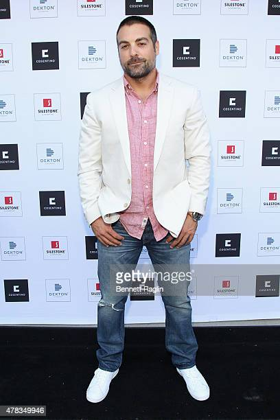 Anthony Carrino of HGTV's The Cousins attend the America's Most Desperate Kitchens Premiere Party at Carrino Provisions on June 24 2015 in Jersey...