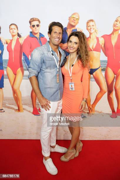 Anthony Carroll and Emily Carroll attend the Australian premiere of 'Baywatch' at Hoyts EQ on May 18 2017 in Sydney Australia