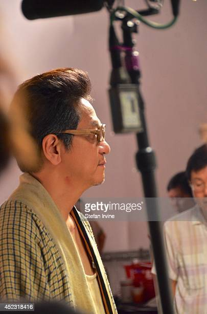 Anthony Chan on the Hong Kong film set of Rigor Mortis a horror film about vampires The film is Juno Mak's directorial debut and is released in Hong...