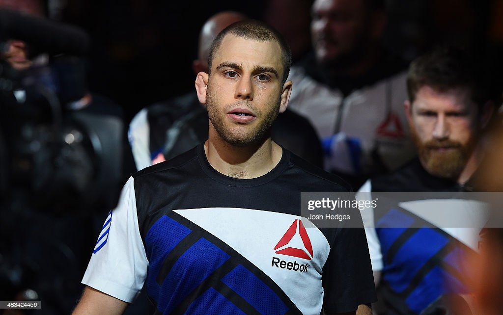 Anthony Christodoulou of Greece enters the arena before facing Scott Holtzman in their lightweight bout during the UFC Fight Night event at Bridgestone Arena on August 8, 2015 in Nashville, Tennessee.