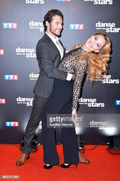 Anthony Colette and Joy Esther attend the 'Danse avec les Stars' photocall at TF1 on September 28 2017 in Paris France