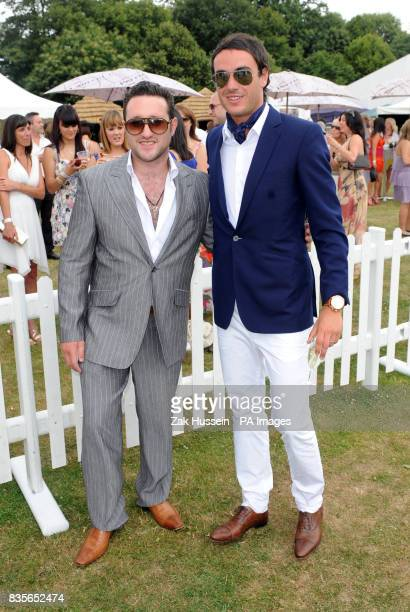 Anthony Costa and Jack Tweed arrive for the Duke of Essex Polo Trophy at Gaynes Park Estate Essex