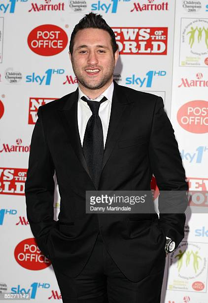 Anthony Costa attends the Children's Champions 2009 at Grosvenor House Hotel on March 4 2009 in London England