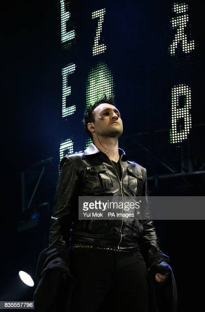 Anthony Costa from Blue performing on stage during Capital 958 Summertime Ball with Barclaycard at the Emirates Stadium
