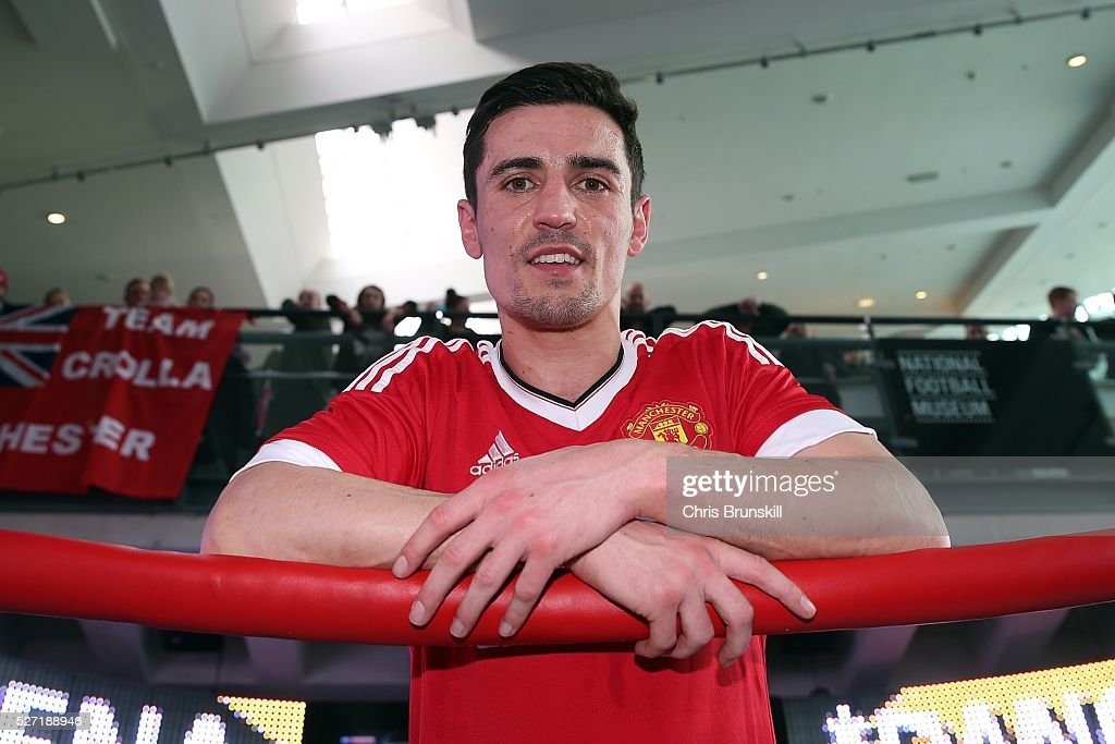Anthony Crolla poses for a photograph during a media work out at the National Football Museum on May 02, 2016 in Manchester, England.