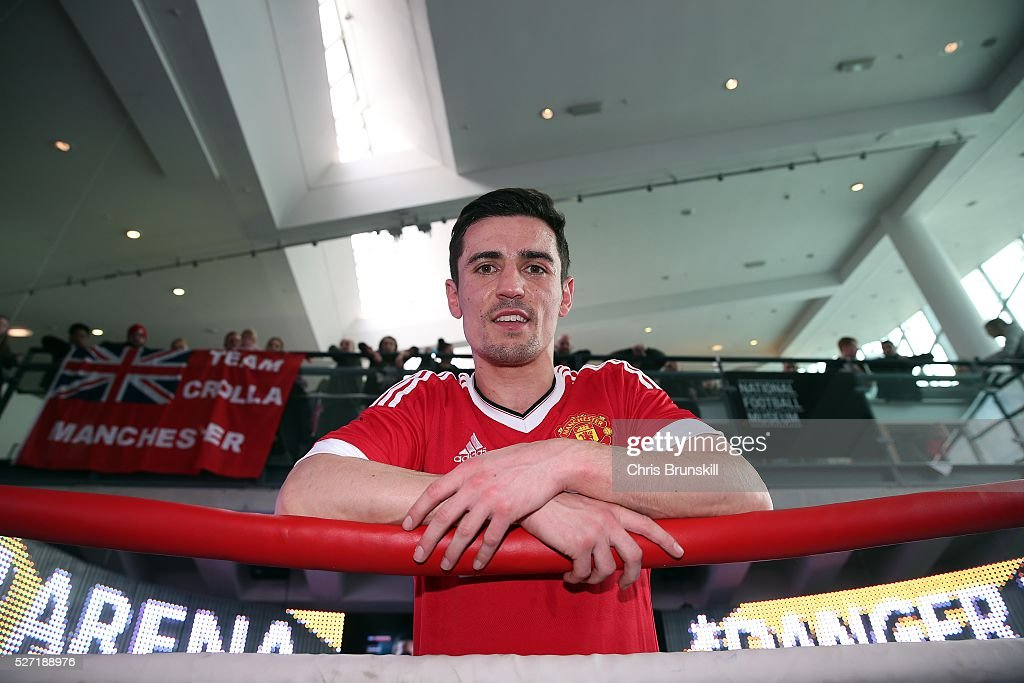 <a gi-track='captionPersonalityLinkClicked' href=/galleries/search?phrase=Anthony+Crolla&family=editorial&specificpeople=2133062 ng-click='$event.stopPropagation()'>Anthony Crolla</a> poses for a photograph during a media work out at the National Football Museum on May 02, 2016 in Manchester, England.