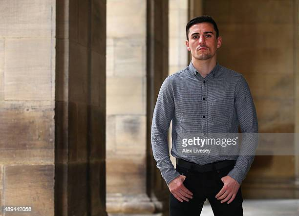 Anthony Crolla poses for a portrait after a press conference to promote his forthcoming rematch with Darleys Perez II at the Radisson Blu Hotel on...