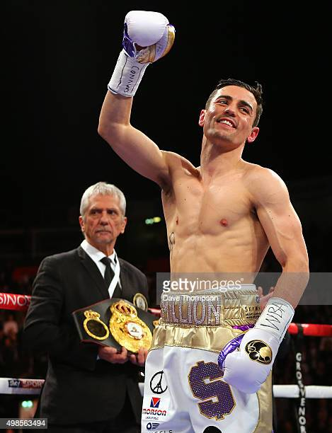 Anthony Crolla prior to his fight against Darleys Perez during their WBA World Lightweight Championship bout at the Manchester Arena on November 21...