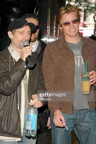 Anthony Cumia and Denis Leary during Denis Leary with Opie and Anthony May 23 2006 in New York City New York United States