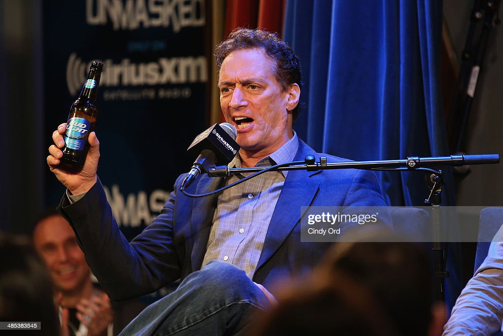 <a gi-track='captionPersonalityLinkClicked' href=/galleries/search?phrase=Anthony+Cumia&family=editorial&specificpeople=6345627 ng-click='$event.stopPropagation()'>Anthony Cumia</a> speaks at SiriusXM's O&A20: Unmasked With Opie & Anthony Special Celebrates 20 Years Of Opie & Anthony at Carolines On Broadway on April 17, 2014 in New York City.
