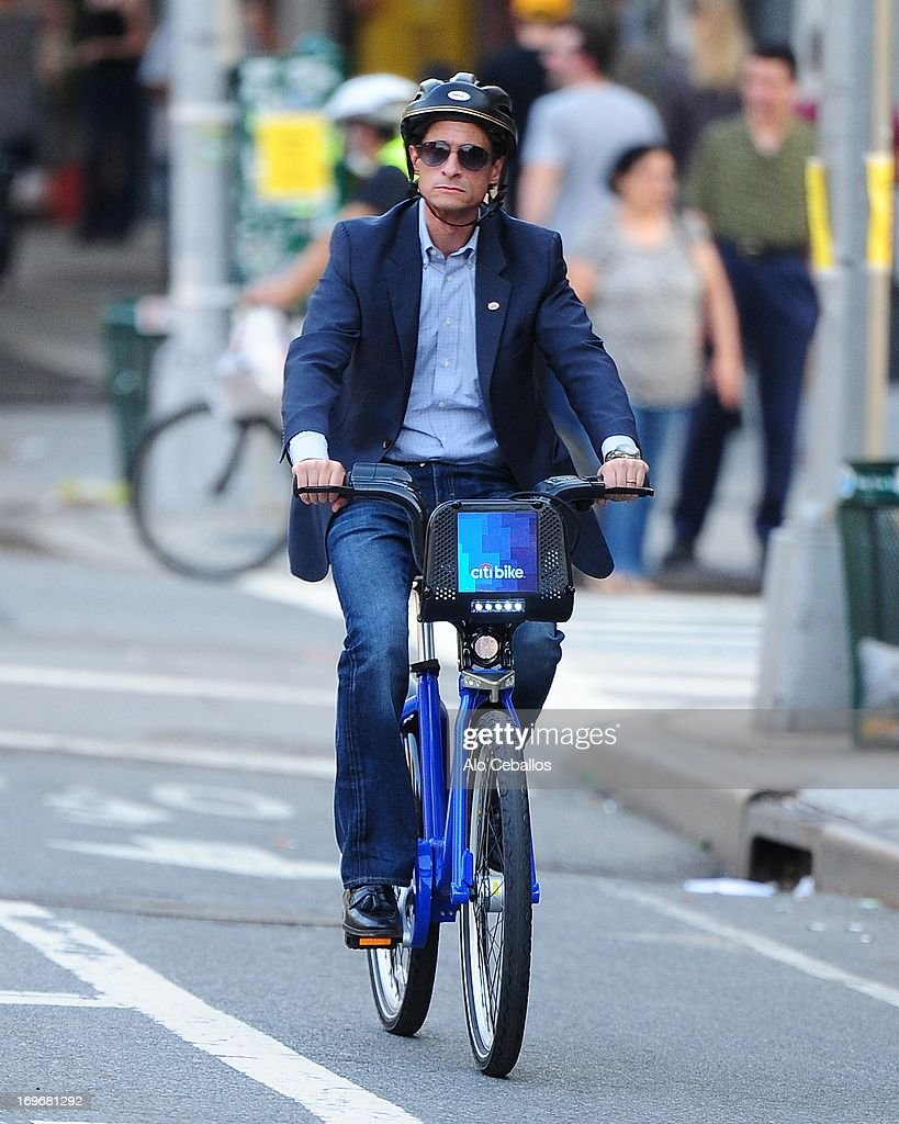 Anthony D. Weiner is seen in Chelsea on May 30, 2013 in New York City.