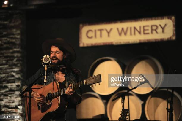 Anthony D'Amato opens for Craig Finn The We All Want The Same Things Band during their album release party at City Winery on April 4 2017 in New York...