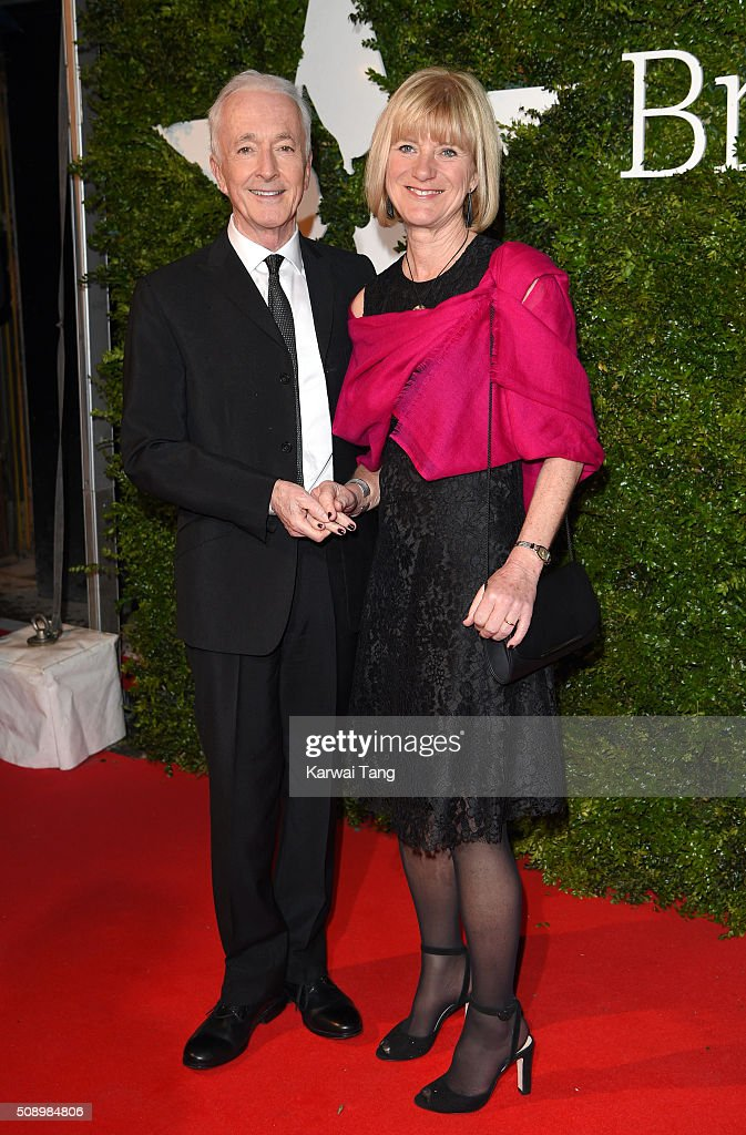 Anthony Daniels and Christine Savage attend the London Evening Standard British Film Awards at Television Centre on February 7, 2016 in London, England.