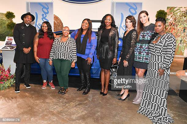 Anthony David Kashmir Thompson Kenya Freeman Loni Love Erica Key Robin Black Andrea McBride and Charreah Jackson attend Essence 'My City Four Ways...