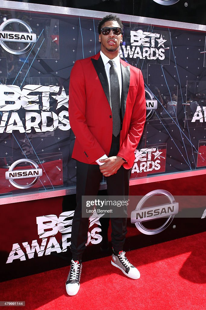 Anthony Davis arrived at the BET & Make A Wish Foundation Recipients BET Experience At LA. Live Red Carpet arrivals - Weekend Events on June 28, 2015 in Los Angeles, California.
